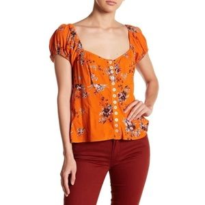 Free People Close To You Floral Top